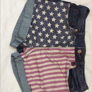 Rue 21 American flag shorts